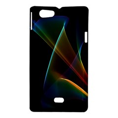 Abstract Rainbow Lily, Colorful Mystical Flower  Sony Xperia Miro Hardshell Case