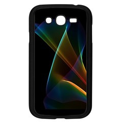 Abstract Rainbow Lily, Colorful Mystical Flower  Samsung Galaxy Grand DUOS I9082 Case (Black)
