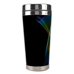 Abstract Rainbow Lily, Colorful Mystical Flower  Stainless Steel Travel Tumbler