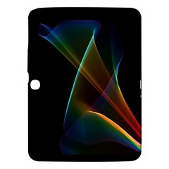 Abstract Rainbow Lily, Colorful Mystical Flower  Samsung Galaxy Tab 3 (10.1 ) P5200 Hardshell Case