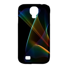 Abstract Rainbow Lily, Colorful Mystical Flower  Samsung Galaxy S4 Classic Hardshell Case (pc+silicone)