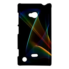 Abstract Rainbow Lily, Colorful Mystical Flower  Nokia Lumia 720 Hardshell Case