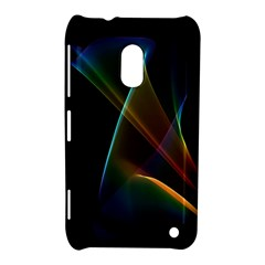 Abstract Rainbow Lily, Colorful Mystical Flower  Nokia Lumia 620 Hardshell Case