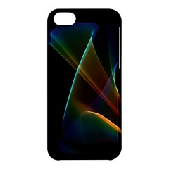 Abstract Rainbow Lily, Colorful Mystical Flower  Apple iPhone 5C Hardshell Case