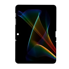 Abstract Rainbow Lily, Colorful Mystical Flower  Samsung Galaxy Tab 2 (10.1 ) P5100 Hardshell Case
