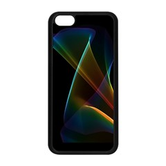 Abstract Rainbow Lily, Colorful Mystical Flower  Apple iPhone 5C Seamless Case (Black)