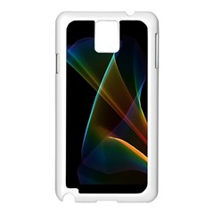Abstract Rainbow Lily, Colorful Mystical Flower  Samsung Galaxy Note 3 N9005 Case (white)