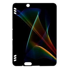 Abstract Rainbow Lily, Colorful Mystical Flower  Kindle Fire HDX 7  Hardshell Case
