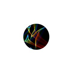 Peacock Symphony, Abstract Rainbow Music 1  Mini Button Magnet