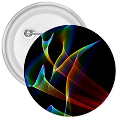 Peacock Symphony, Abstract Rainbow Music 3  Button