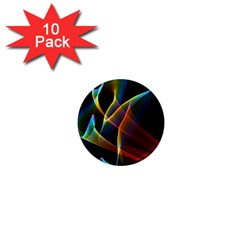 Peacock Symphony, Abstract Rainbow Music 1  Mini Button Magnet (10 pack)