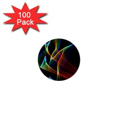 Peacock Symphony, Abstract Rainbow Music 1  Mini Button (100 pack)