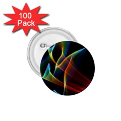 Peacock Symphony, Abstract Rainbow Music 1.75  Button (100 pack)