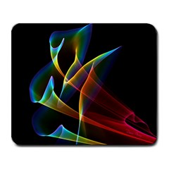 Peacock Symphony, Abstract Rainbow Music Large Mouse Pad (Rectangle)