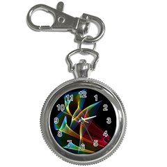 Peacock Symphony, Abstract Rainbow Music Key Chain Watch