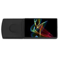 Peacock Symphony, Abstract Rainbow Music 1GB USB Flash Drive (Rectangle)