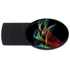 Peacock Symphony, Abstract Rainbow Music 4GB USB Flash Drive (Oval)