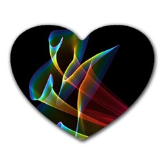 Peacock Symphony, Abstract Rainbow Music Mouse Pad (Heart)