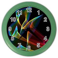 Peacock Symphony, Abstract Rainbow Music Wall Clock (Color)