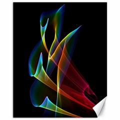 Peacock Symphony, Abstract Rainbow Music Canvas 11  X 14  (unframed)
