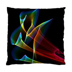 Peacock Symphony, Abstract Rainbow Music Cushion Case (Single Sided)