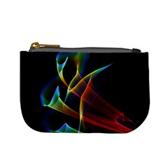 Peacock Symphony, Abstract Rainbow Music Coin Change Purse