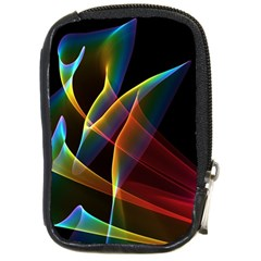 Peacock Symphony, Abstract Rainbow Music Compact Camera Leather Case