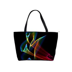Peacock Symphony, Abstract Rainbow Music Large Shoulder Bag