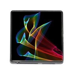 Peacock Symphony, Abstract Rainbow Music Memory Card Reader with Storage (Square)