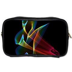 Peacock Symphony, Abstract Rainbow Music Travel Toiletry Bag (Two Sides)