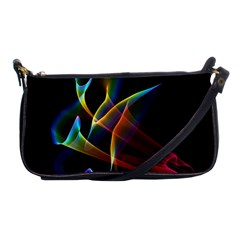 Peacock Symphony, Abstract Rainbow Music Evening Bag