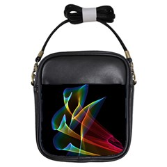 Peacock Symphony, Abstract Rainbow Music Girl s Sling Bag