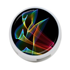 Peacock Symphony, Abstract Rainbow Music 4 Port Usb Hub (two Sides)