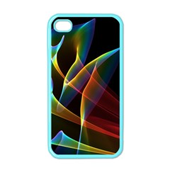 Peacock Symphony, Abstract Rainbow Music Apple Iphone 4 Case (color)