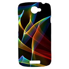 Peacock Symphony, Abstract Rainbow Music HTC One S Hardshell Case