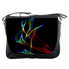 Peacock Symphony, Abstract Rainbow Music Messenger Bag