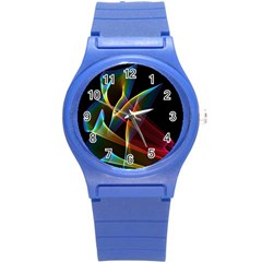 Peacock Symphony, Abstract Rainbow Music Plastic Sport Watch (Small)
