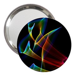 Peacock Symphony, Abstract Rainbow Music 3  Handbag Mirror