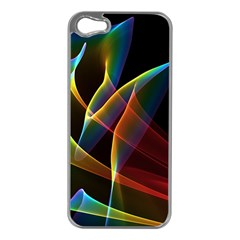 Peacock Symphony, Abstract Rainbow Music Apple iPhone 5 Case (Silver)