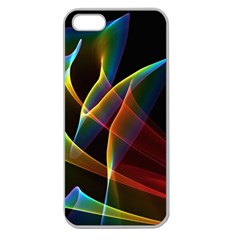 Peacock Symphony, Abstract Rainbow Music Apple Seamless iPhone 5 Case (Clear)