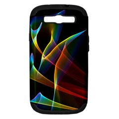 Peacock Symphony, Abstract Rainbow Music Samsung Galaxy S Iii Hardshell Case (pc+silicone)