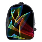 Peacock Symphony, Abstract Rainbow Music School Bag (XL) Front