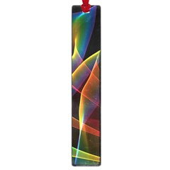 Peacock Symphony, Abstract Rainbow Music Large Bookmark