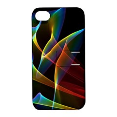 Peacock Symphony, Abstract Rainbow Music Apple iPhone 4/4S Hardshell Case with Stand