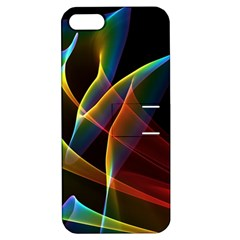 Peacock Symphony, Abstract Rainbow Music Apple Iphone 5 Hardshell Case With Stand