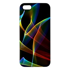 Peacock Symphony, Abstract Rainbow Music Apple iPhone 5 Premium Hardshell Case