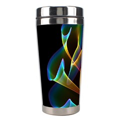 Peacock Symphony, Abstract Rainbow Music Stainless Steel Travel Tumbler