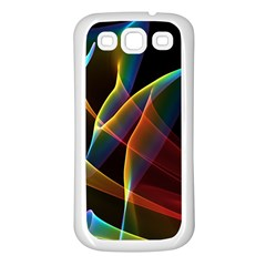Peacock Symphony, Abstract Rainbow Music Samsung Galaxy S3 Back Case (white)