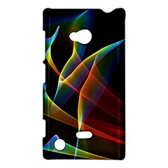 Peacock Symphony, Abstract Rainbow Music Nokia Lumia 720 Hardshell Case