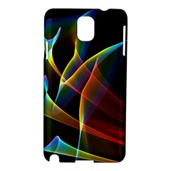 Peacock Symphony, Abstract Rainbow Music Samsung Galaxy Note 3 N9005 Hardshell Case